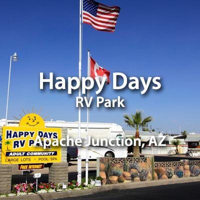 Make Happy Days RV Park in Apache Junction, AZ your next destination