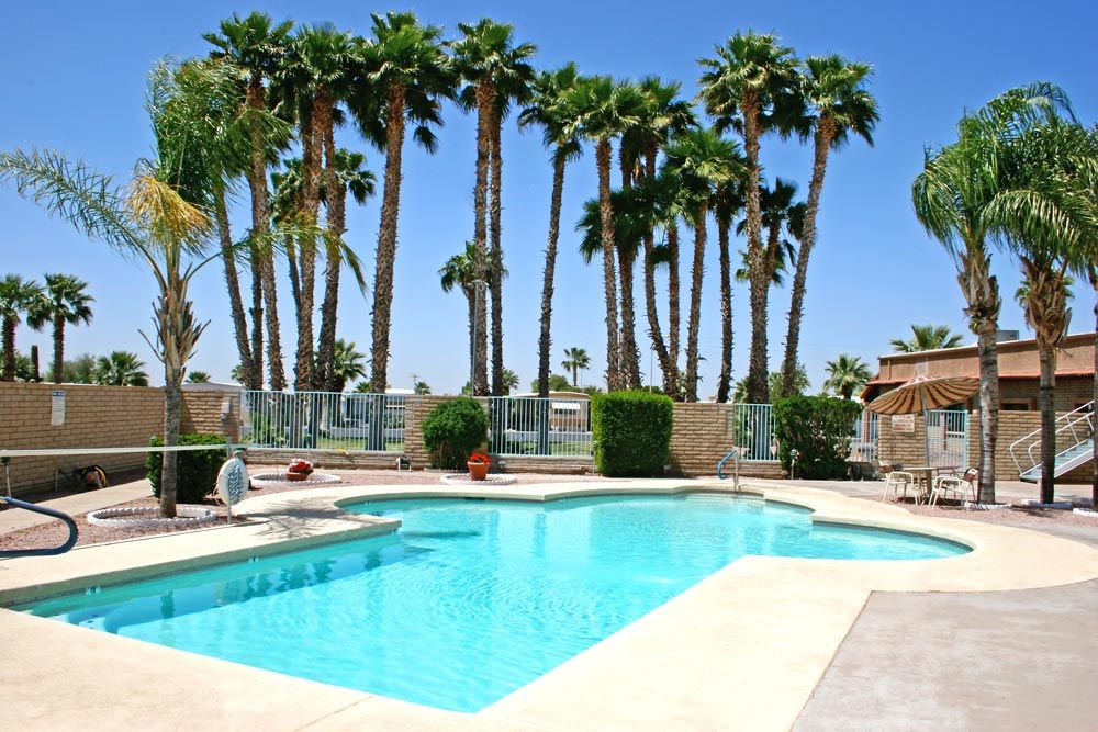 Enjoy our Pool and Hot tub at our RV Park in Apache Junction, AZ